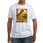 Yellow English Trumpeter Fitted T-Shirt