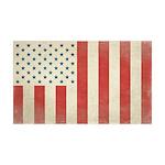 US Civilian Vintage Flag 38.5 x 24.5 Wall Peel