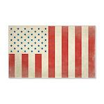 US Civilian Vintage Flag 22x14 Wall Peel
