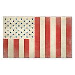 US Civilian Vintage Flag Sticker (Rectangle 50 pk)