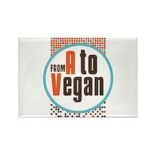 Vegan Dots Rectangle Magnet