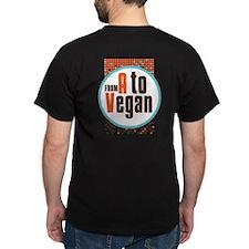 Vegan Dots Dark T-Shirt