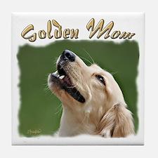 Golden Mom Tile Coaster