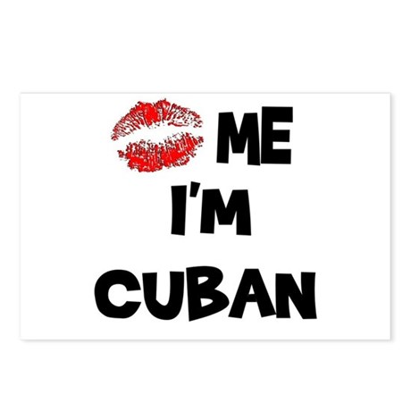 Kiss Me I'm Cuban Postcards (Package of 8)