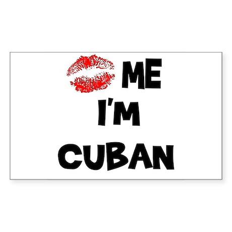 Kiss Me I'm Cuban Rectangle Sticker