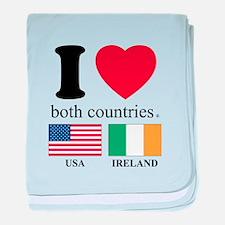USA-IRELAND baby blanket