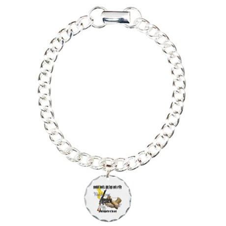 Navy What Does Your Nephew Wear Charm Bracelet, On