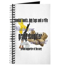 Navy What Does Your Grand Daughter Wear Journal