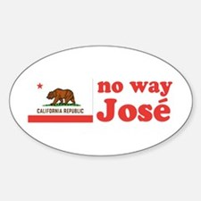 No Way Jose California Oval Decal
