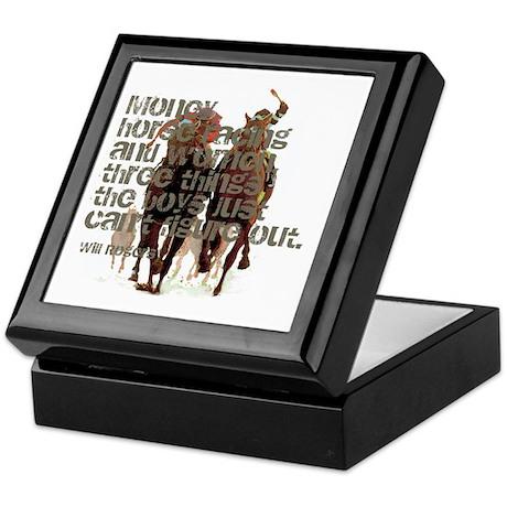 Will Rogers Horse Racing Quot Keepsake Box