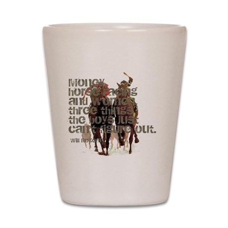 Will Rogers Horse Racing Quot Shot Glass