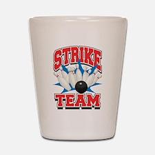 Bowling Strike Team Shot Glass
