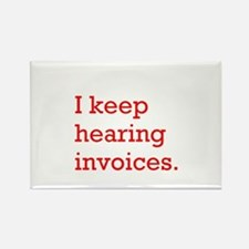 Hearing Invoices Rectangle Magnet