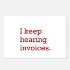 Hearing Invoices Postcards (Package of 8)
