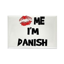 Kiss Me I'm Danish Rectangle Magnet