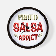 Salsa Addict Wall Clock