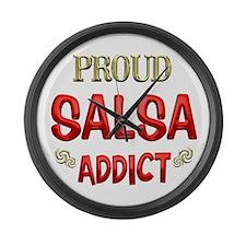 Salsa Addict Large Wall Clock