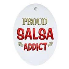 Salsa Addict Ornament (Oval)