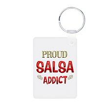 Salsa Addict Aluminum Photo Keychain