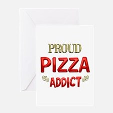 Pizza Addict Greeting Card