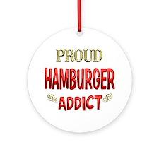 Hamburger Addict Ornament (Round)
