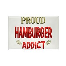 Hamburger Addict Rectangle Magnet