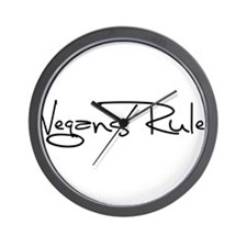 Vegans Rule! Wall Clock