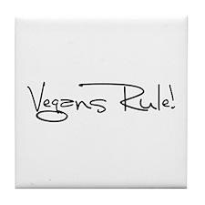 Vegans Rule! Tile Coaster
