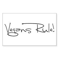 Vegans Rule! Sticker (Rectangle 50 pk)