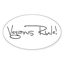 Vegans Rule! Sticker (Oval)