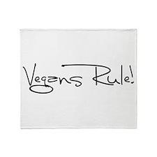 Vegans Rule! Throw Blanket