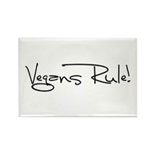 Vegans Rule! Rectangle Magnet