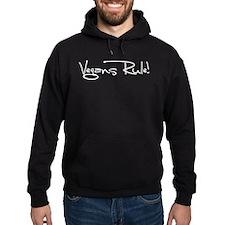 Vegans Rule! Hoodie (dark)