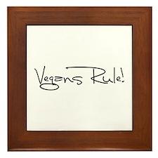 Vegans Rule! Framed Tile