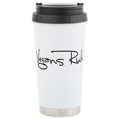 Vegans Rule! Travel Mug