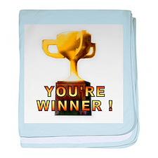 You're Winner baby blanket