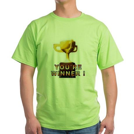 You're Winner Green T-Shirt