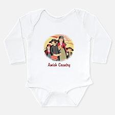 Amish Country Long Sleeve Infant Bodysuit