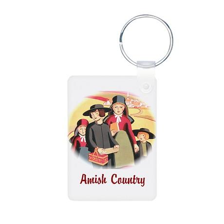 Amish Country Aluminum Photo Keychain
