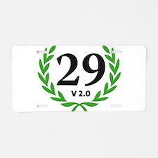 Sexy 40 Aluminum License Plate