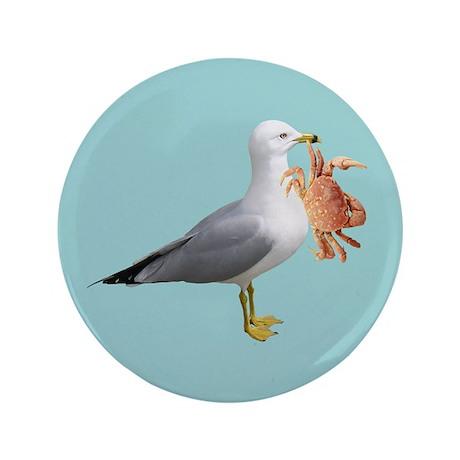 "Seagull Crab Blue 3.5"" Button"