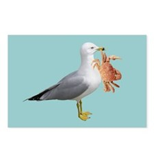 Seagull Crab Blue Postcards (Package of 8)