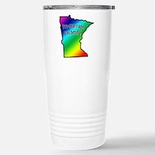 Minnesota Rainbow - Stainless Steel Travel Mug