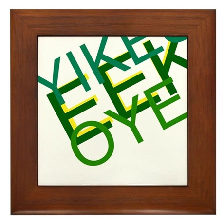 'Yikes Eek! Oye' Products Framed Tile