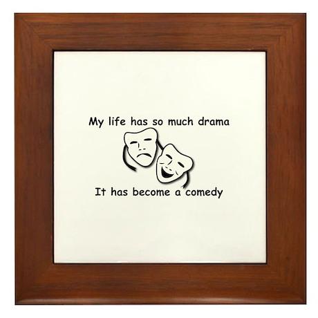 Drama/Comedy Design Items Framed Tile