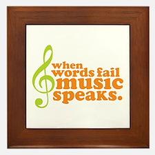 Green and Orange Music Framed Tile