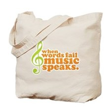 Green and Orange Music Tote Bag