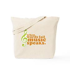 Green and Orange Music Tote Bag