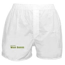 Real Men Wear Babies Boxer Shorts