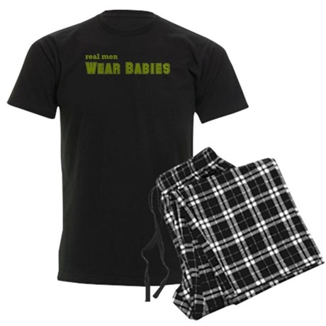 Real Men Wear Babies Men's Dark Pajamas